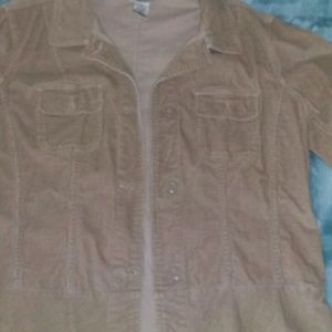 Corduroy button up stretchy jacket